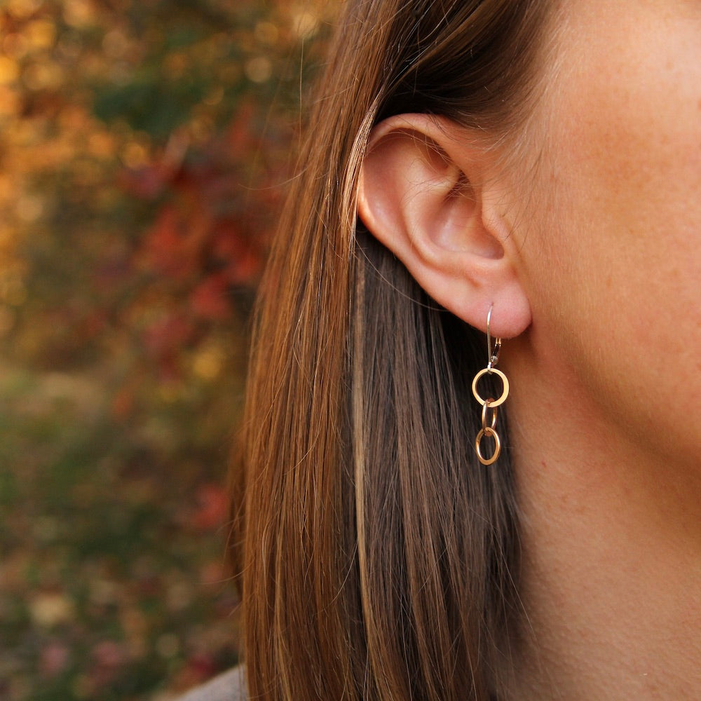 Gold-fill Interlocking Cirlces Earring