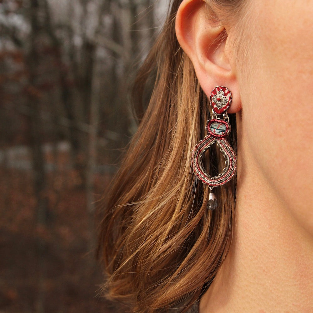 Red Rock Large Post Earring