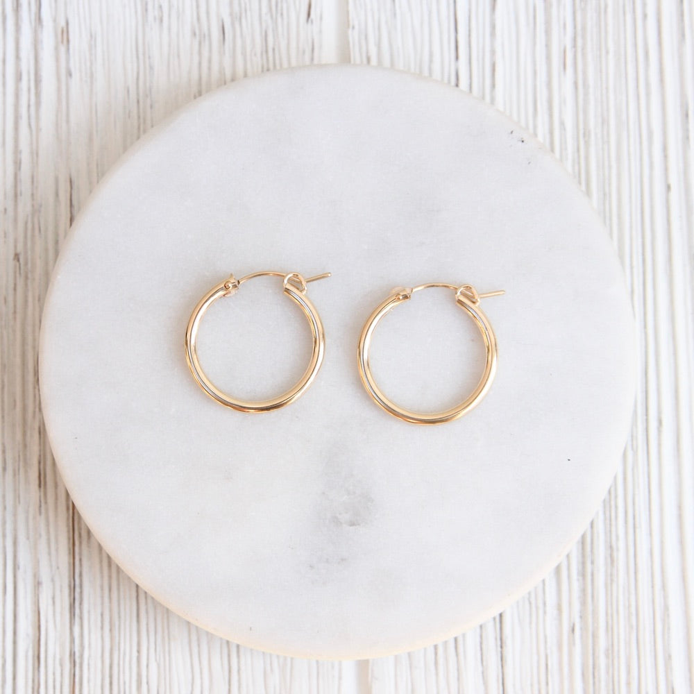 Thick 20mm Gold Filled Tube Hoop
