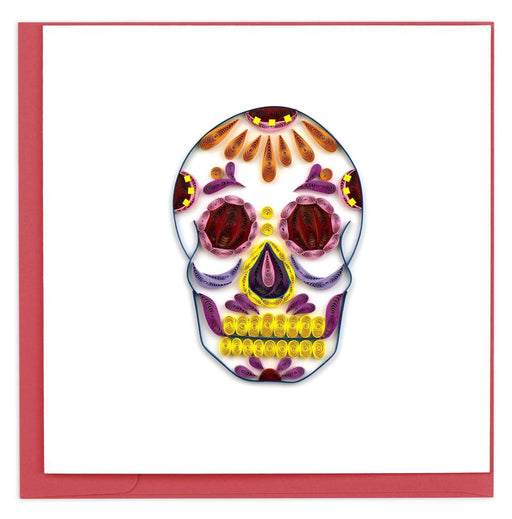 Large Sugar Skull Card