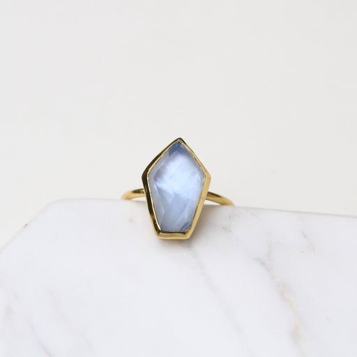Tanzanite Mid Stone Adjustable Ring