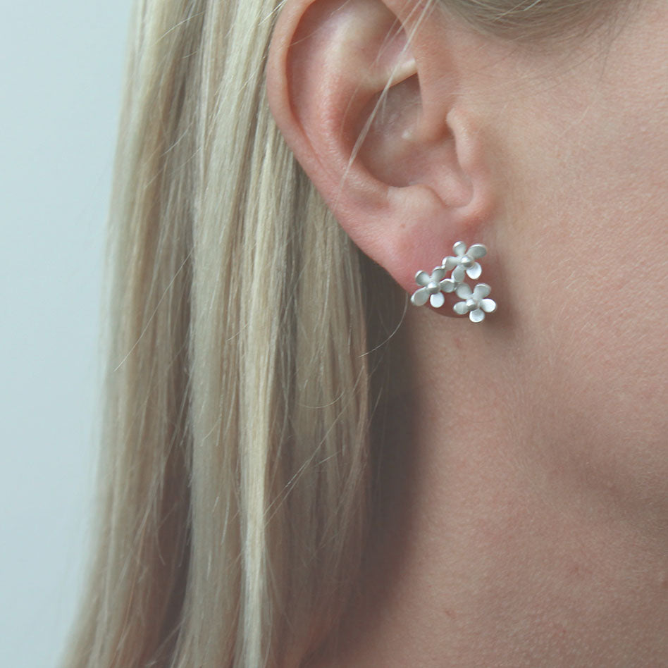 Forget Me Not Triple Post Earring