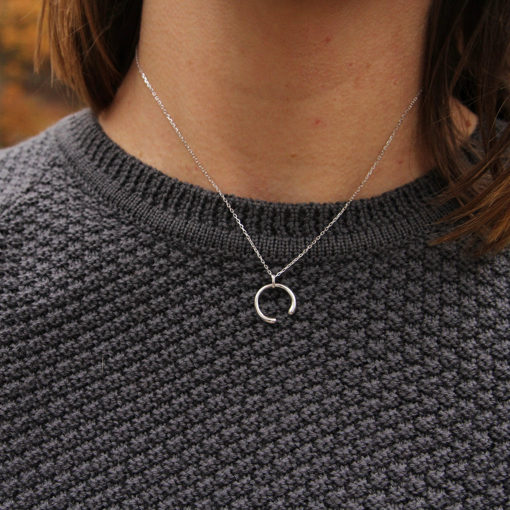 Silver Luxe Curve Necklace