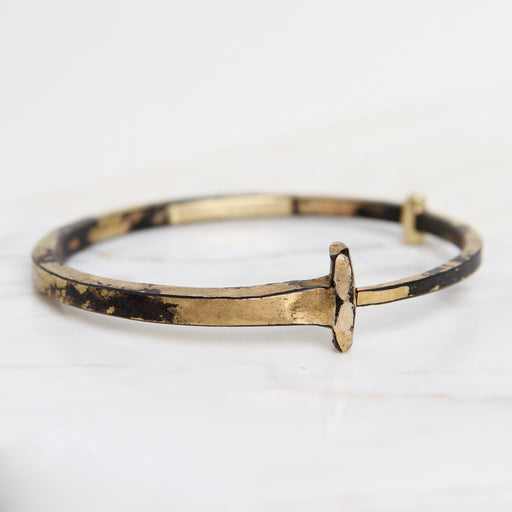 Pat Flynn Iron Nail Bracelet ~ 22k Yellow Gold Dust