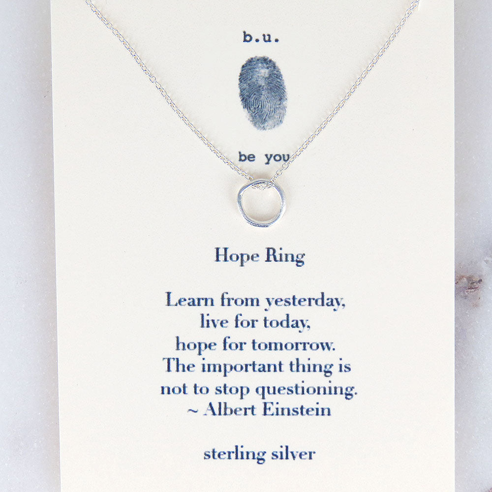 HOPE RING NECKLACE