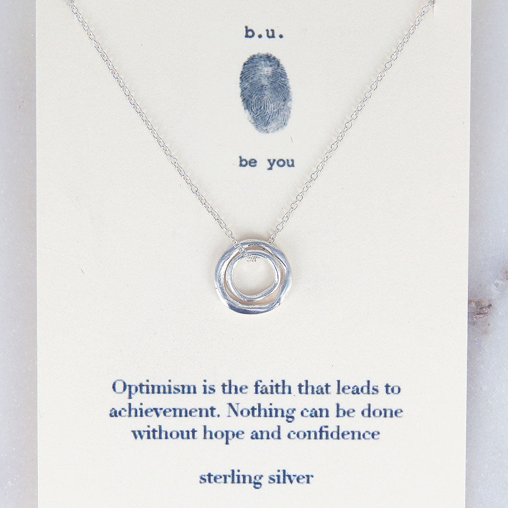 OPTIMISIM IS THE FAITH NECKLACE