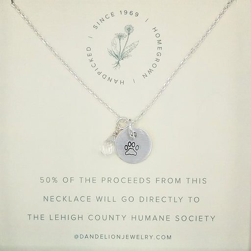 PAW CHARM NECKLACE FOR THE HUMANE SOCIETY