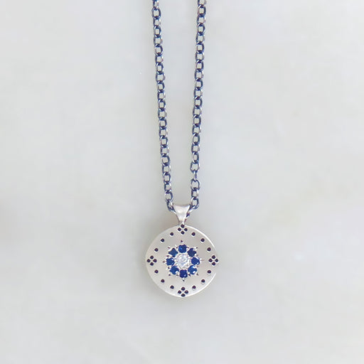 CLUSTER PENDANT WITH SAPPHIRE FLORET