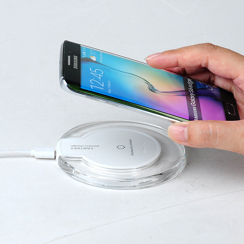Wireless Charger with Charging Pad for IOS & Android