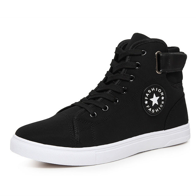 Breathable Men Canvas Shoes Lace up
