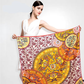 Large Size Printed SilkScarves for Women