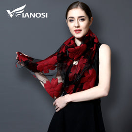 Embroidery Viscose Scarves for Women