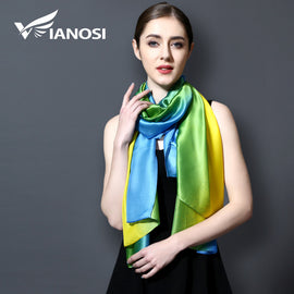 Gradient Colors Women Scarves made of 100% Silk