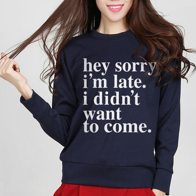 Letter Printed Sweatshirt for Women