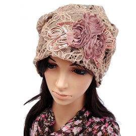 Women's Beanie Autumn Lace Hat