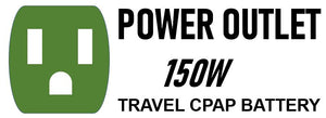 Power Outlet Travel CPAP Battery for DreamStation, AirMini, Apex XT, Apex iCH, HDM Z1/Z2, and Transcend Machines