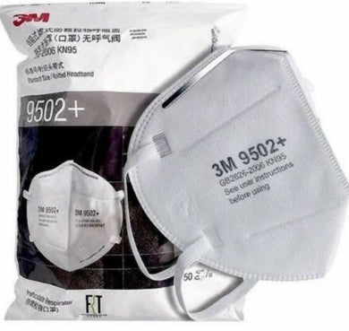 3M 9502+ N95 Particulate Respirators (Headband, No Valve) - CDC NIOSH Approved