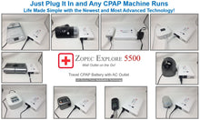Zopec Explore 5500 CPAP UPS Battery (2-3 Nights). Uninterrupted Sleep with Power Outages - Car Charger Included. 2021 Model!