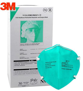 3M 9132 N95 Particulate Respirators (Headband, No Valve, Hospital Grade >99% BFE) - CDC NIOSH Approved