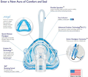 Sales Demo: Aura AirGel Nasal Mask (Customizable Shape!) by Sleepnet