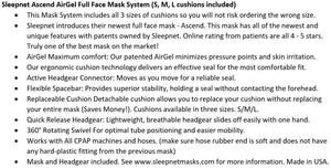 Bundle Deal: iCH II Auto CPAP Machine (SF07109) and Ascend Full Face Mask System (50825) by Apex Medical and Sleepnet