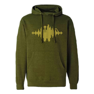 Dallas Music Hoodie - Metallic Gold Graphic
