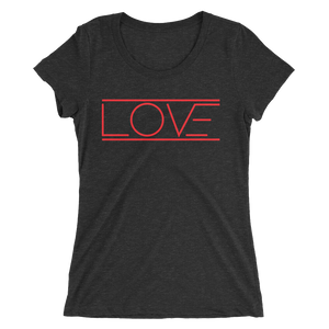 Love Ladies' Red Print Short Sleeve T-Shirt