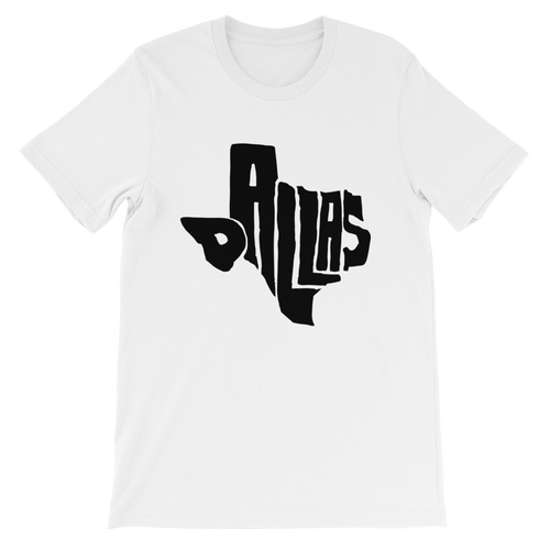 Dallas Texas Black Print T-Shirt