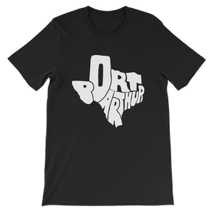 Port Arthur Texas White Print T-Shirt