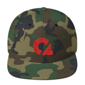Culture Ace Red Logo/Camo Snapback Hat