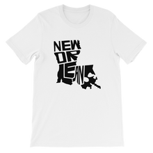 New Orleans Louisiana Black Print T-Shirt