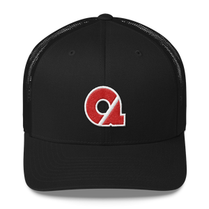 Trucker Cap - Red CA Logo w/White Trim