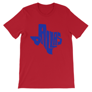 Dallas Texas Blue Print T-Shirt