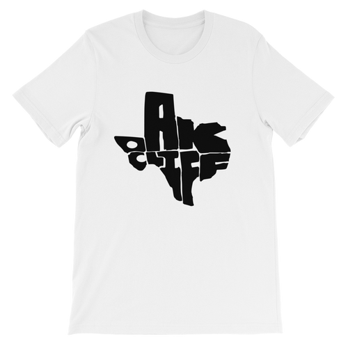 Oak Cliff Texas Black Print T-Shirt