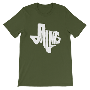 Dallas Texas White Print T-Shirt