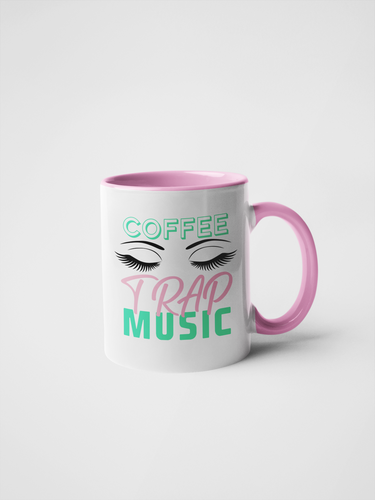 Coffee Lashes Trap Music - Mug