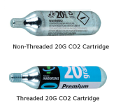Threaded and Non-Threaded CO2 Cartridges