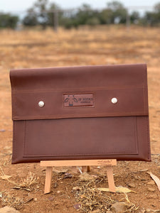 Cow Hide and Leather Document Folder