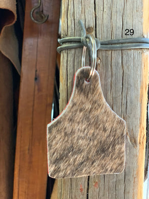 Cow Hide Key Tags _ No 29