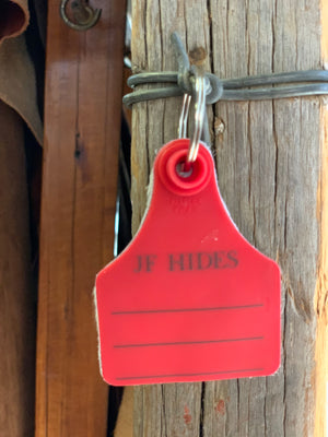 Cow Hide Key Tags _ No 40