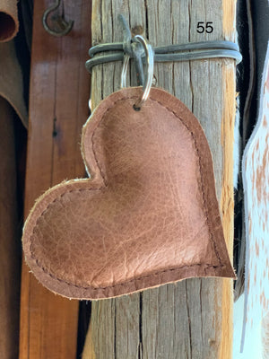 Cow Hide Heart Key Tags _ No  55