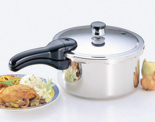 Presto 4 and 6 Quart Stainless Steel Pressure Cookers