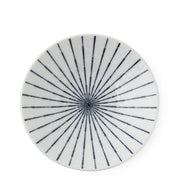 Set of 4 Japanese Blue & White Sunburst Pattern Dessert/ Salad Plates - British Malaya Shop