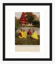 Vintage 1907 Bengali Girls in Eden Park in Calcutta (Kolkata) India Art Print - British Malaya Shop