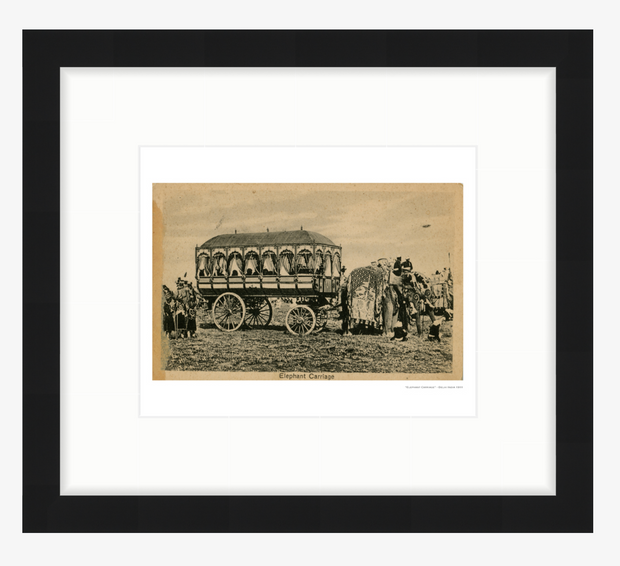 Vintage Grand Elephant Drawn Carriage India Art Print - British Malaya Shop