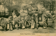 Vintage Elephant Caravan and Drivers India Art Print - British Malaya Shop