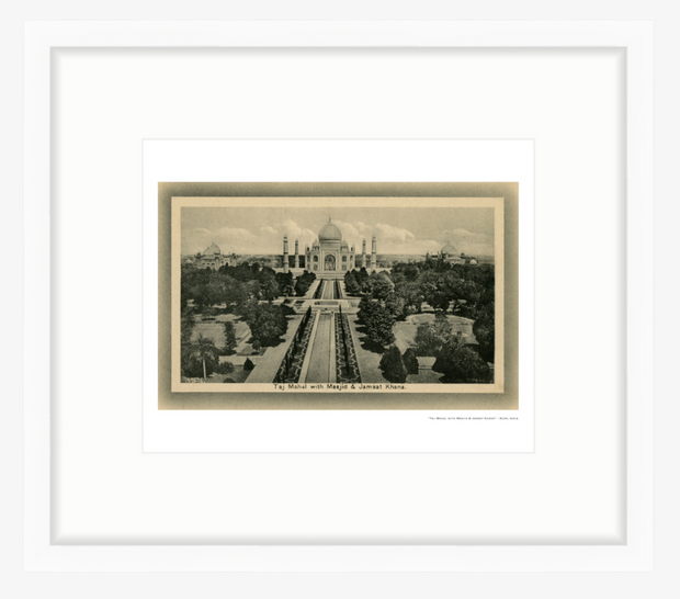 Vintage 1900's Taj Mahal and Grounds - Agra, India Art Print - British Malaya Shop