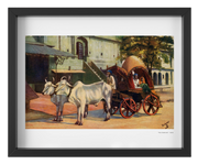Vintage 1900's Ox Drawn Tea Carriage India Art Print - British Malaya Shop