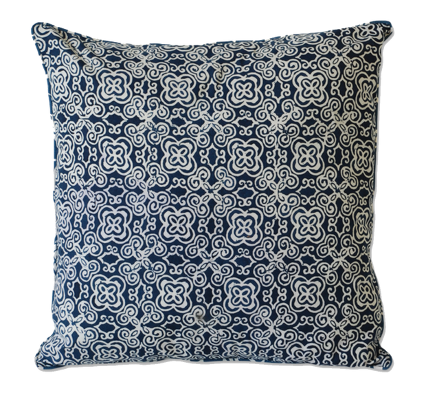 Indigo Batik Pillow Cover Handmade in Bali - British Malaya Shop