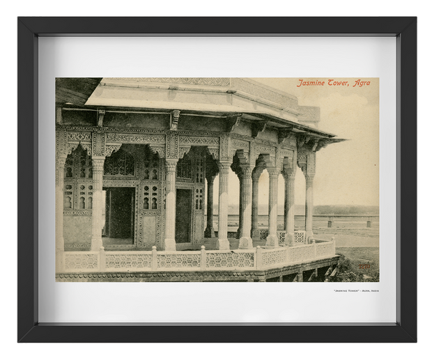 Vintage Early 1900's Mughal Era Jasmine Tower - Agra, India Art Print - British Malaya Shop
